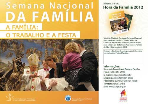 Cartaz de divulgação da Semana Nacional da Família