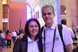 Cátia e Luiz Estolfe, membros da Pastoral Familiar da cidade Joinville (SC).