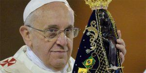 papa Francisco e Nossa Senhora Aparecida