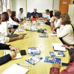 CNPF recebe equipe de subsídios e Comissão para a Vida e a Família