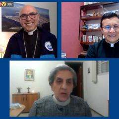 Irmã Fernanda Balan foi convidada surpresa na live de encerramento da SNF