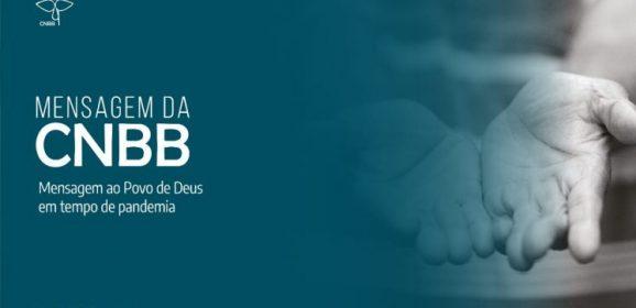CNBB divulga mensagem ao Povo de Deus em tempo de pandemia